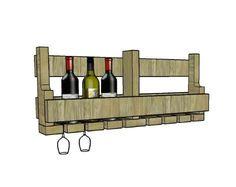 Look final support à vin avec une palette