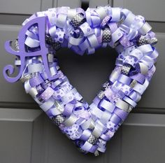 Items similar to Lavender Silver Spring / Mother's Day / Baby Shower Ribbon Wreath on Etsy Rag Wreaths, Deco Mesh Wreaths, Fabric Wreath, Silver Spring, How To Make Wreaths, 4th Of July Wreath, Garland, Lavender, Ribbon