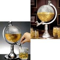 Wish | Globe Shaped Beverage Dispenser Drink Wine Beer Machine Pump Single Canister
