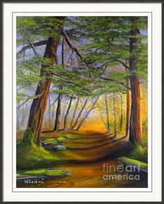 Morning Stroll Framed Print By Wayne Enslow Artwork Prints, Framed Prints, Acrylic Paintings, Hanging Wire, Prints For Sale, Fine Art America