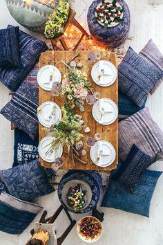 picnic en casa. decoración mesa marroquí. dar amïna