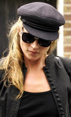 34c05572269 The way to wear a chauffeur hat Kate Moss