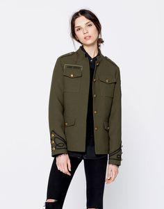 Pull&Bear - woman - new - clothing - military-style jacket - khaki - 09710373-I2016