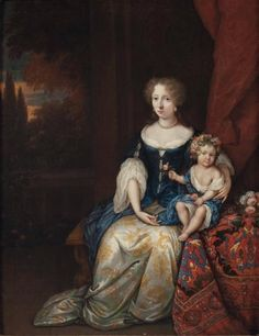 portrait 1668 | Constantijn NETSCHER (La Haye, 1668-1723) Portrait d'une femme et de ...