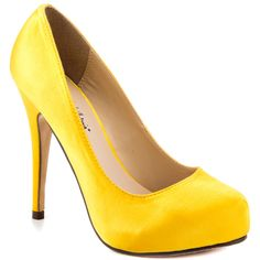 Love Me - Yellow Satin  Michael Antonio $49.99: I need some yellow pumps