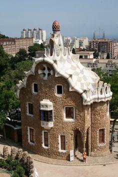 Parc Guell, Barcelona, España.