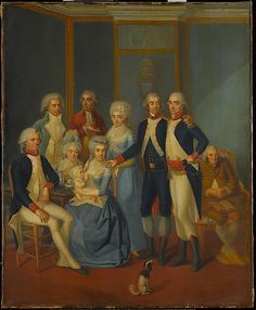 Portrait of a Military Family  early 19th century painter  Artist: possibly Jean-Jacques Hauer (French, 1751–1829) Date: ca. 1789–90