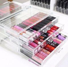 porta maquiagem jóias acrílico caixa organizadora 3 gavetas
