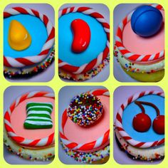 Candy Crush Cupcakes — Birthday Cakes Shannon, how about this for Steve? Candy Crush Party, Candy Crush Cakes, Candy Crush Saga, Candy Party, Cupcake Birthday Cake, Cupcake Cakes, Birthday Candy, Cupcake Ideas, Cupcake Toppers