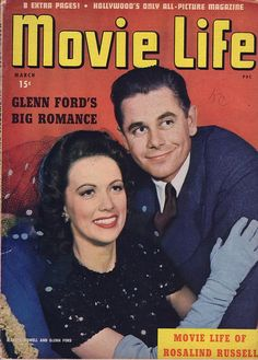 Eleanor Powell and Glenn Ford on the cover of Movie Life, March 1943