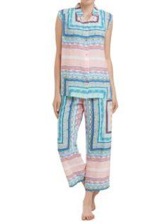 Sussan - Sleepwear - Pj Sets - Scarf print pj set