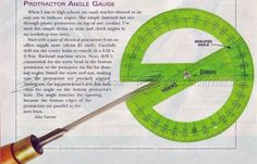 Protractor Angle Gauge - Sharpening Tips, Jigs and Techniques | WoodArchivist.com