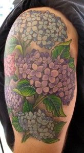 Not so much as its own piece, but it will make the perfect filler for my garden sleeve | Hydrangea tattoo