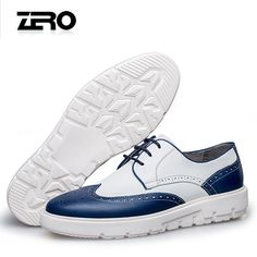 Zero零度布洛克休闲鞋 2017新品男皮鞋英伦板鞋潮鞋系带休闲皮鞋-tmall.com天猫