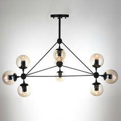 Genuine Personality Beanstalk Chandelier DNA Molecules Restaurant Living Room Lights Nordic Iron Glass Ball Lamp IKEA Light