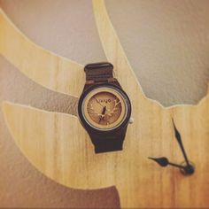 Stag Wooden Watch 100% sustainable bamboo case and comfortable leather band Feather-light 56g