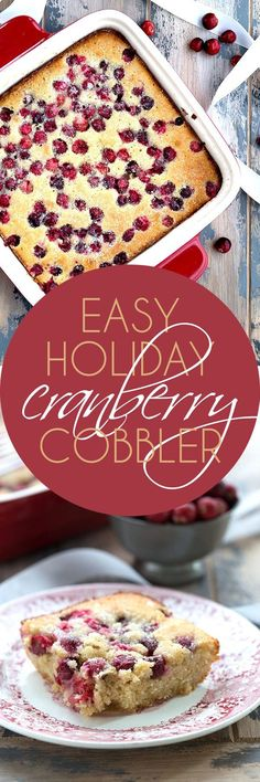 Make this low carb cranberry cobbler the star of your holiday dessert table! A tender sugar-free almond flour batter studded with fresh cranberries. #lowcarb #keto #sugarfree #grainfree via @dreamaboutfood