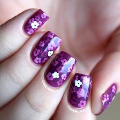 Purple Pond from fingernailsthatshinelikejustice.com. Jelly sandwich design. Instructions: http://www.metromela.com/nail-polish-designs/