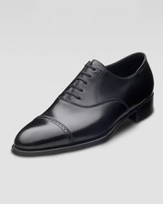 The 12 Shoes Every Man Needs Black Cap Toe Oxfords Phillip II lace-up ($1,585) by John Lobb