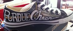 hand-painted shoes Purdue Cheer Converse