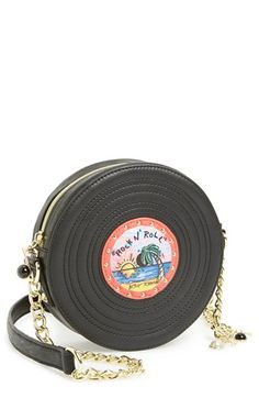 $78, Record Crossbody Black by Betsey Johnson. Sold by Nordstrom. Click for more info: http://lookastic.com/women/shop_items/69680/redirect