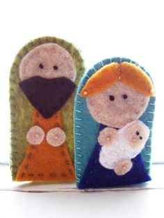 finger puppet nativity set.