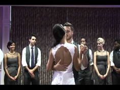Awesome bridal party hip-hop dance!  Skip to 6:00 to see start of dance
