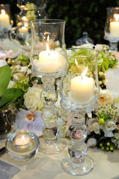 At Mary Jane Vaughan we love candlelight and glass - love these!