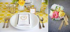 bright wedding decor