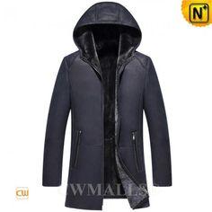 Custom Sheepskin Leather Coat with Hood CW836525 b8f97912b805