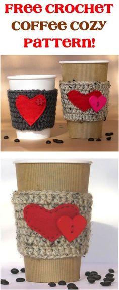 FREE Crochet Coffee Cozy Pattern!