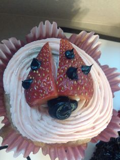 Lady Bug cup cakes