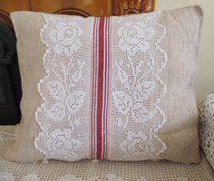 101. Antique grainsack pillow sham handwoven organic  hemp