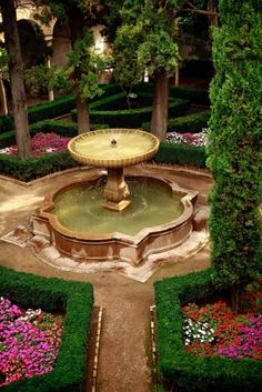 """Famous Gardens"""" Alhambra Palace, Spain. http://www ..."""
