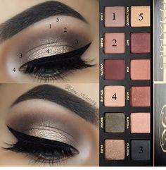 Several Eyeshadow Palettes Make Up Tutorials Makeup Goals, Love Makeup, Makeup Inspo, Makeup Inspiration, Makeup Tips, Makeup Tutorials, Makeup Products, Eyeshadow Tutorials, Eye Makeup Steps