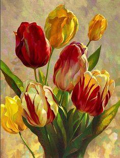 144 fantastiche immagini in Тюльпан su Pinterest | Arte del fiore ...