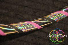 Double Rainbow and Spirograph Shine Hula Hoop by NeonHoops