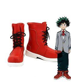 My Hero Academia Boku no Hero Academia Izuku Midoriya Cosplay Shoes Boots Custom Made -- Continue to the product at the image link. This is an Amazon Affiliate links.