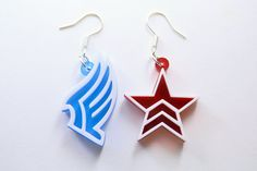 Mass Effect Paragon Renegade Earrings Laser Cut by LicketyCut