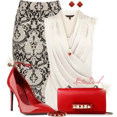 """Red Valentino Heels&Clutch"" by katiediab on Polyvore"