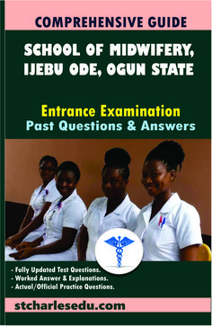 Ogun State School of Midwifery, Ijebu-Ode Past Question and Answer Entrance Examination - Click to Download Registered Nurse Rn, Rn Nurse, Question Paper, Question And Answer, Past Questions, This Or That Questions, Director Of Nursing, O Levels, State School