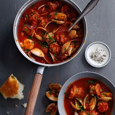 Cataplana Stew with Sausage and Clams Recipe - Quick From Scratch Fish & Shellfish | Food & Wine