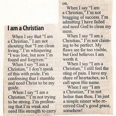 I wish everyone who is anti Christian would read this and understand we are not judging ANYONE! They act like we think we are better than them, which is soooo not true! Christians aren't perfect, just forgiven!