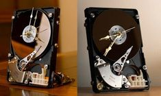 Shared by ographer. Here is what I do with all my old hard drives from old computers. Stupid People Memes, Computer Hard Drive, Disco Duro, Old Computers, Desk Clock, Hard Disk Drive, Hdd, Diy Design, Geek Stuff