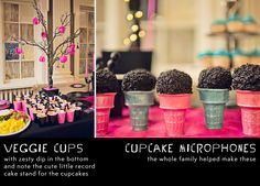 Rock Star Kid's Birthday Party Photos Punk - Cupcake Microphones