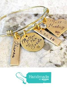 Mother of the Bride Personalized Hand Stamped Gold Bangle Bracelet - Wedding, Alex and Ani Inspired from Lily Brooke Vintage Hand Stamped Jewelry & Gifts http://www.amazon.com/dp/B016NOOET4/ref=hnd_sw_r_pi_dp_5Mqzwb1VXV723 #handmadeatamazon
