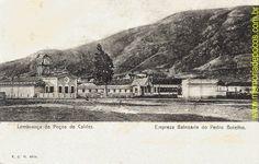 Cartão postal do acervo do Memória de Poços de Caldas, circulado entre 1906 e 1917, mostra o complexo Hotel e Balneário que havia em Poços de Caldas, localizado onde hoje é o Parque José Affonso Junqueira