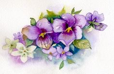 House of Windsor Pansies Painting by Renee Chastant