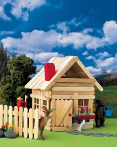 Stick House Ooooo this reminds me of the old days! I loved that little popsicle house. I loved that little popsicle house. Kids Crafts, Crafts For Kids To Make, Summer Crafts, Home Crafts, Summer Fun, Decor Crafts, Popsicle Stick Crafts For Kids, Popsicle Sticks, Craft Stick Crafts