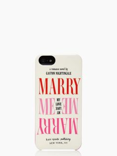 marry me iphone 5 case | I just love Kate Spade's Mrs. products!!
